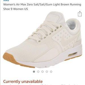 Women's Nike air max zero sail